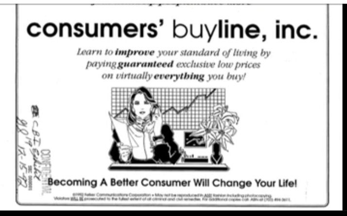 consumers buy line